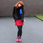 Outfit – De blauwe sjaal