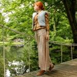 Outfit – Caramelbruin en babyblauw
