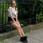 De rollen omgedraaid – Saskia in shorts