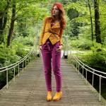 Outfit – Geel met paars