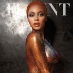 Beyoncé bestrooid met glitter