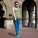 Outfit – Groen en blauw