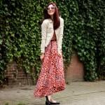 Outfit – Oranje en lila