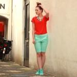 Outfit – Rood en mint