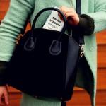 De perfecte zwarte handtas