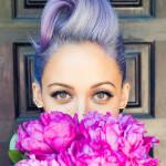 Nicole Richie rockt paars haar!