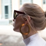 Céline hoop earrings