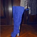 Blue overknees
